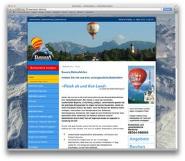 Screenshot der Webseite der Bavaria Ballon GmbH in Seeg